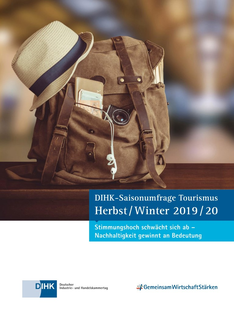 DIHK Tourismusreport 2019 2020 Cover