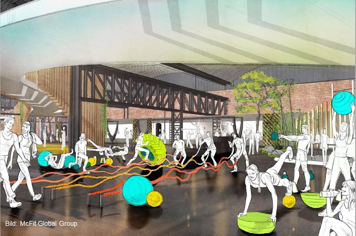 dwif und mcfit global group eine neue fitnesserlebniswelt. Black Bedroom Furniture Sets. Home Design Ideas