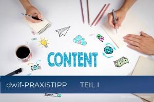 dwif-Praxistipp: Inhalte digital platzieren – 6 Erfolgsfaktoren für relevanten Content (Bild: Fotolia.de/tumsasedgars)