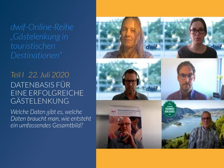 """""""Gästelenkung in touristischen Destinationen"""": Starke Resonanz auf unsere erste Online-Veranstaltung"""