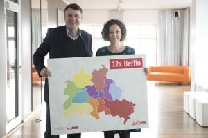dwif-Tourismuskonzept Berlin: visitBerlin-Geschäftsführer Burkhard Kieker und Wirtschaftssenatorin Ramona Pop (Bild: © visitBerlin, Foto: Uwe Steinert)