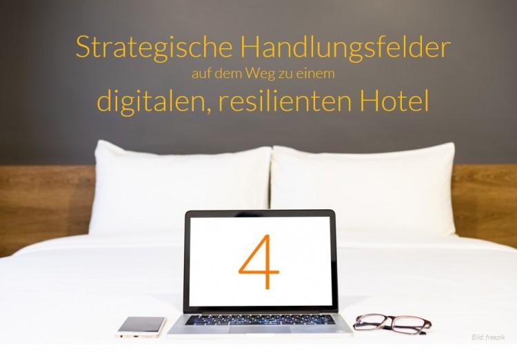 dwif Zahl der Woche: Strategische Handlungsfelder auf dem Weg zu einem digitalen, resilienten Hotel (Bild: freepik)