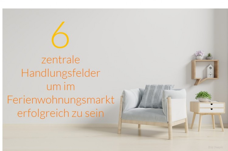 dwif Zahl der Woche: Zentrale Handlungsfelder um im Ferienwohnungsmarkt erfolgreich zu sein (Bild: freepik)